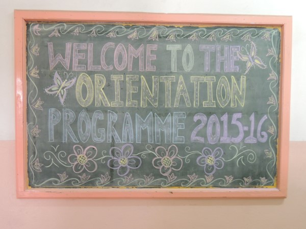 16th April 2015 Orientation