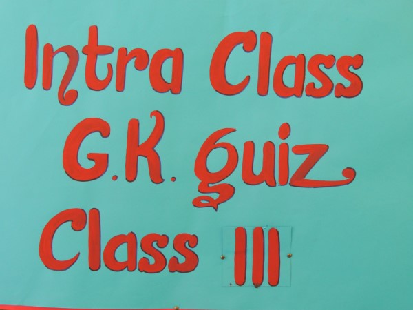 GK Quiz Class III