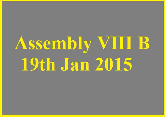Assembly Class VIII B