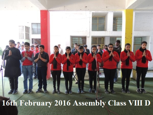 16th Feb 2016 Assembly VIII D