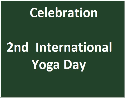 Celebration 2nd Int. Yoga Day