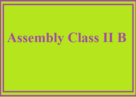 Assembly Class II B