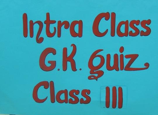 5thOctG.K.QuizClassIII