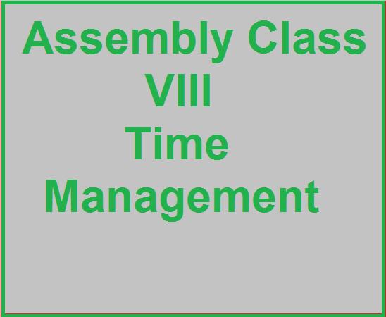 Assembly class VIII